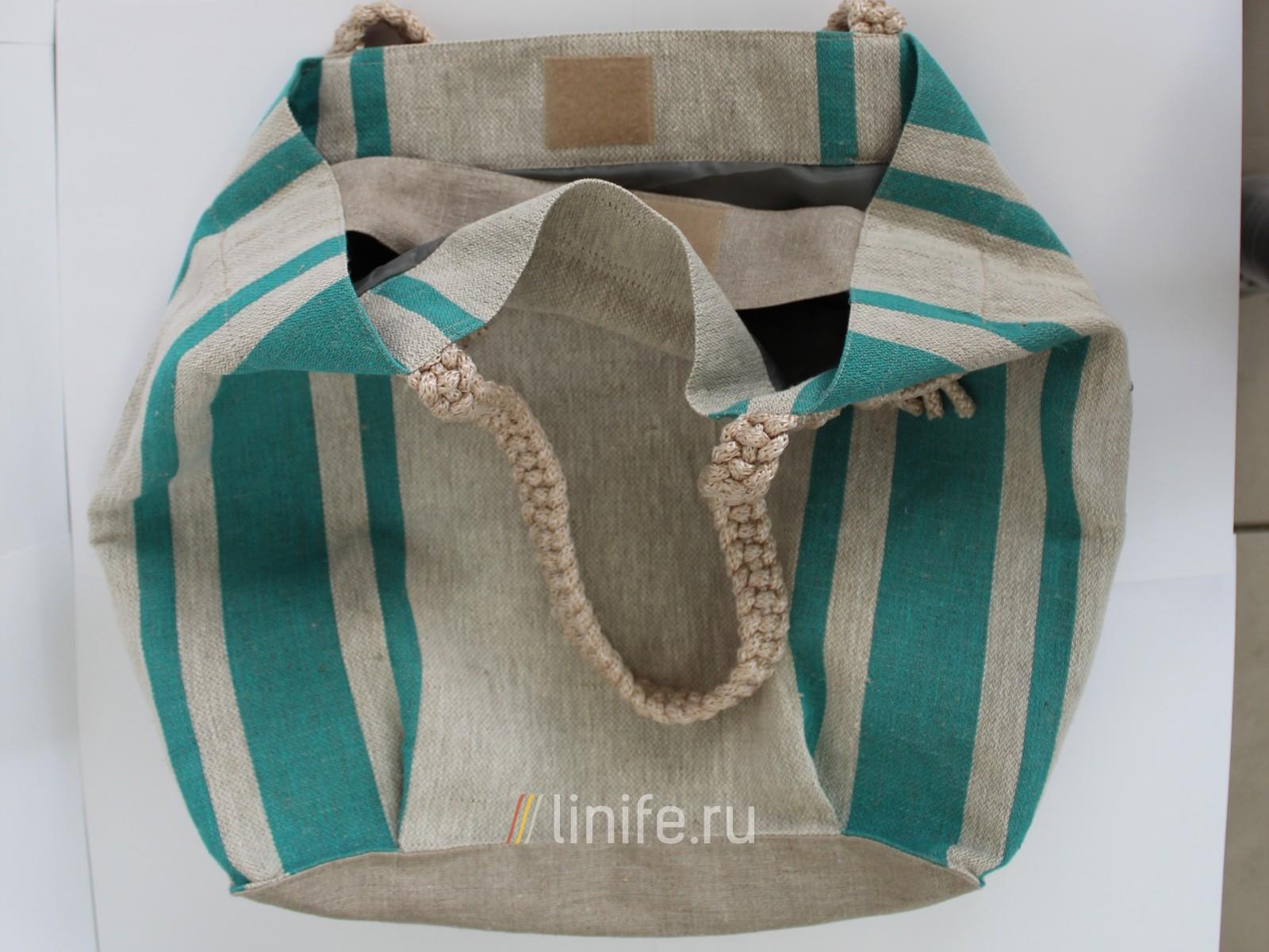 Льняная сумка своими руками фото