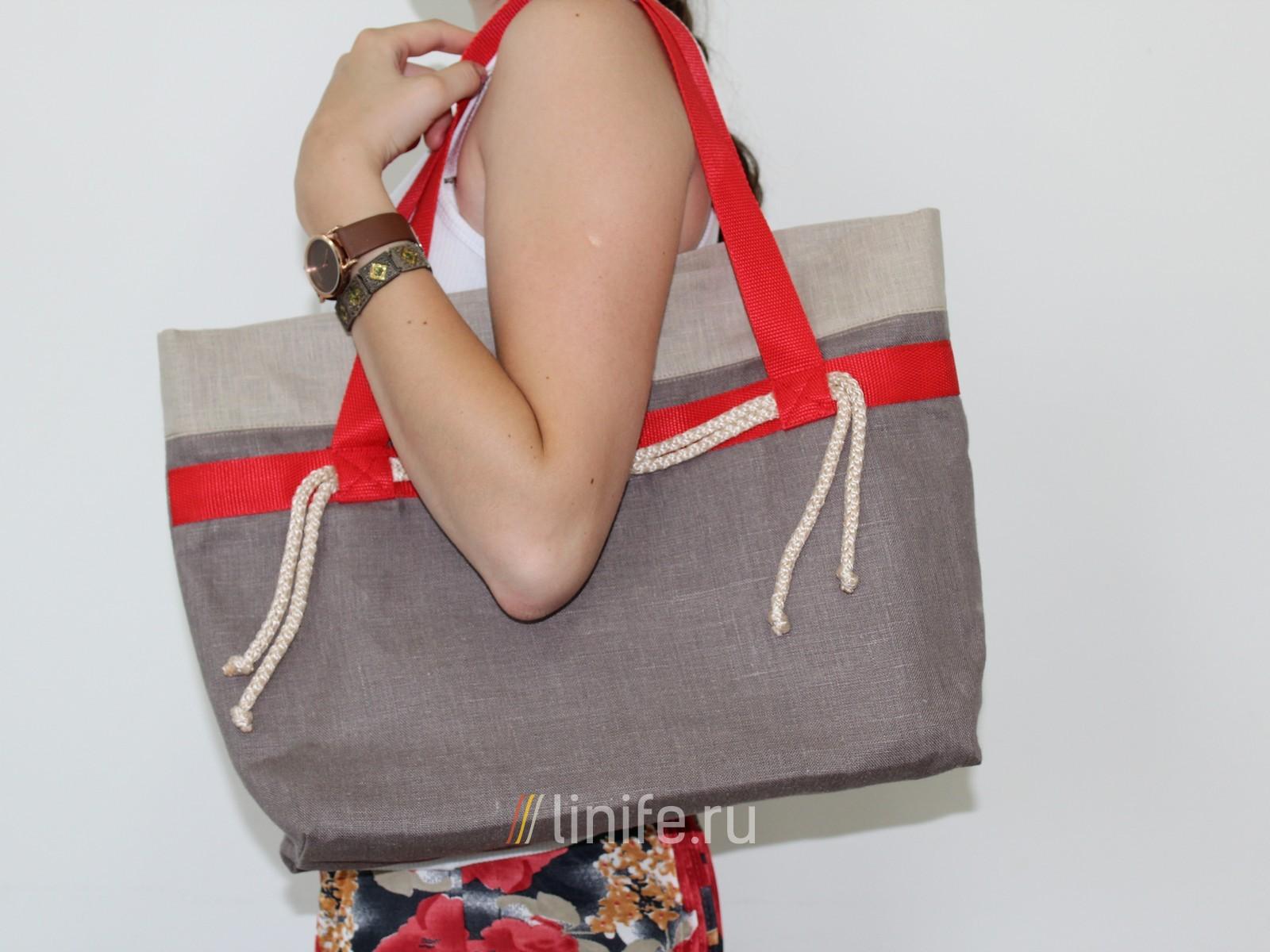 Льняная сумка своими руками